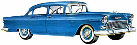 1955 Chevrolet 150 four-door Sedan