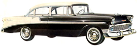 1956 Chevrolet Bel Air four door Sedan