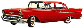 1957 Chevrolet 150 four-door Sedan