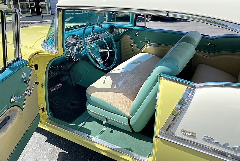 interior of a 1955 Chevy Bel Air