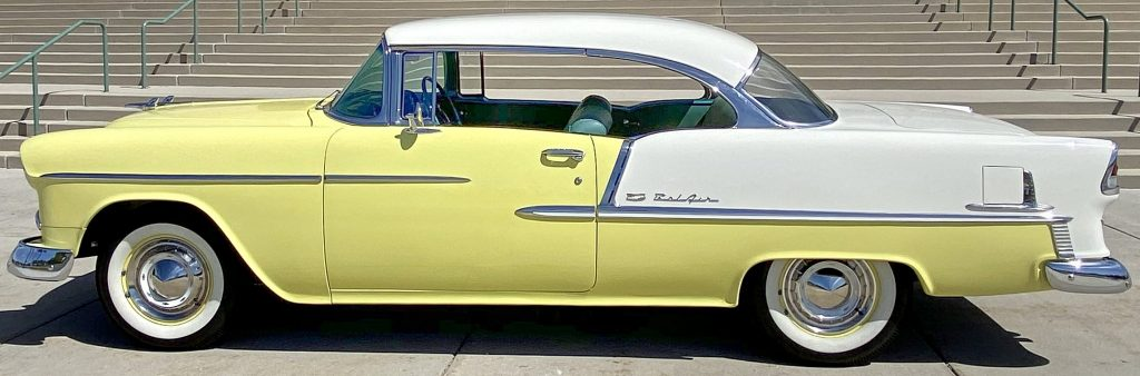 side view of a 1955 Bel Air Sport Coup