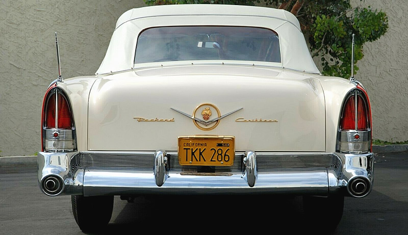 rear view of a 56 Packard Caribbean