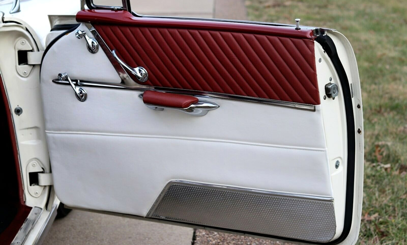 Door panels with plenty of chrome - 57 Star Chief by Pontiac