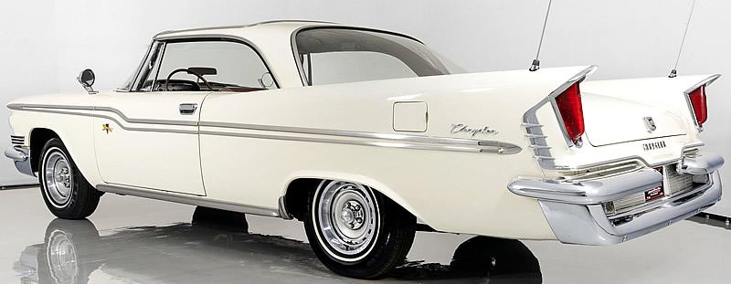 rear fins of a 1959 Chrysler Windsor 2-door hardtop