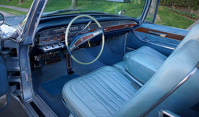 Leather interior of a 1965 Imperial Crown Convertible