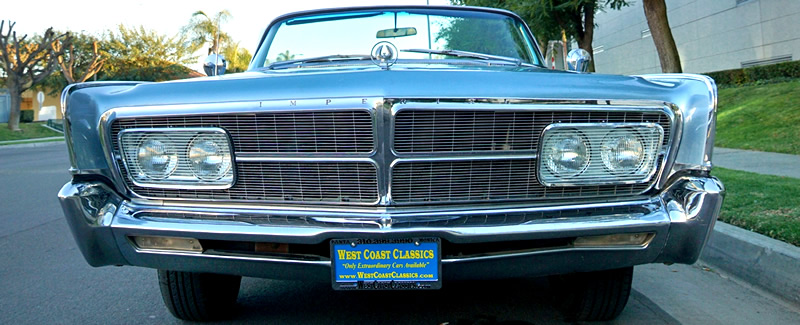 front view of a 65 Imperial Crown showing the glass headlight covers