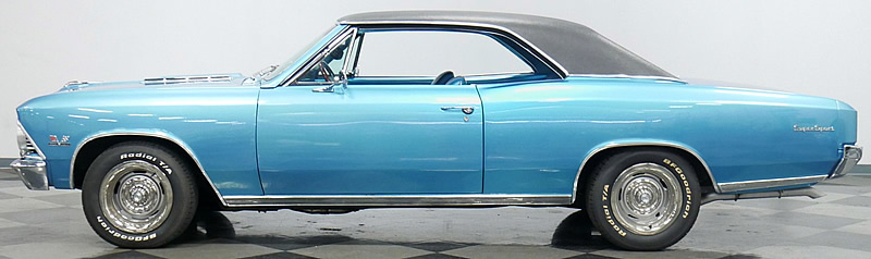 side view of the 66 Chevelle SS 396