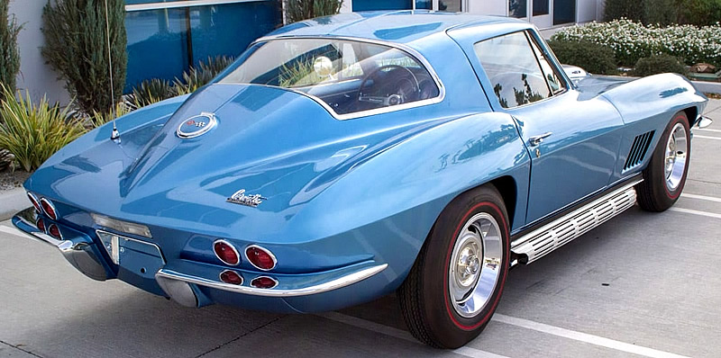Rear view of a 1967 Corvette