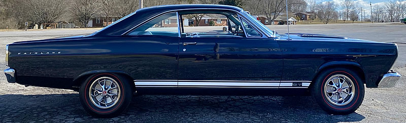 Side view of a 1967 Ford Fairlane GT