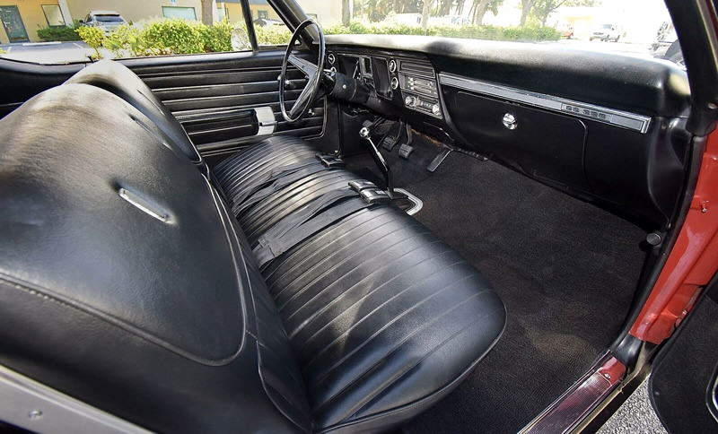 interior shot of a 68 Chevelle SS396