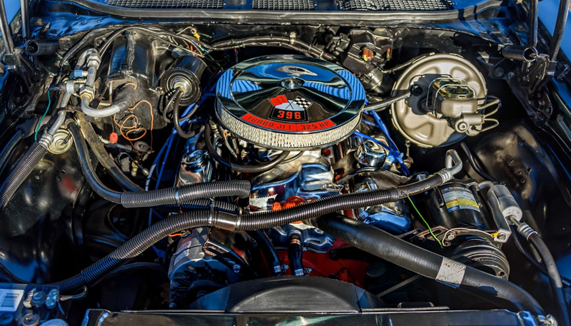 1969 396 cubic inch V8 in a Chevy Chevelle SS396