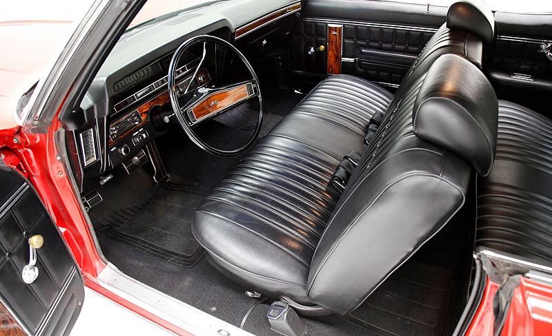 All-vinyl interior of the 1970 Caprice