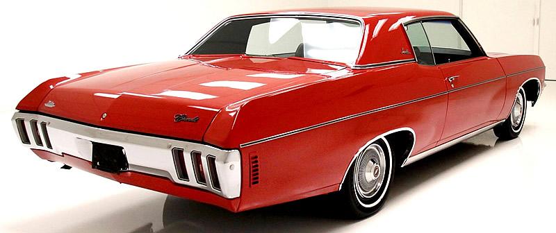 rear view of a 1970 Impala Custom Coupe