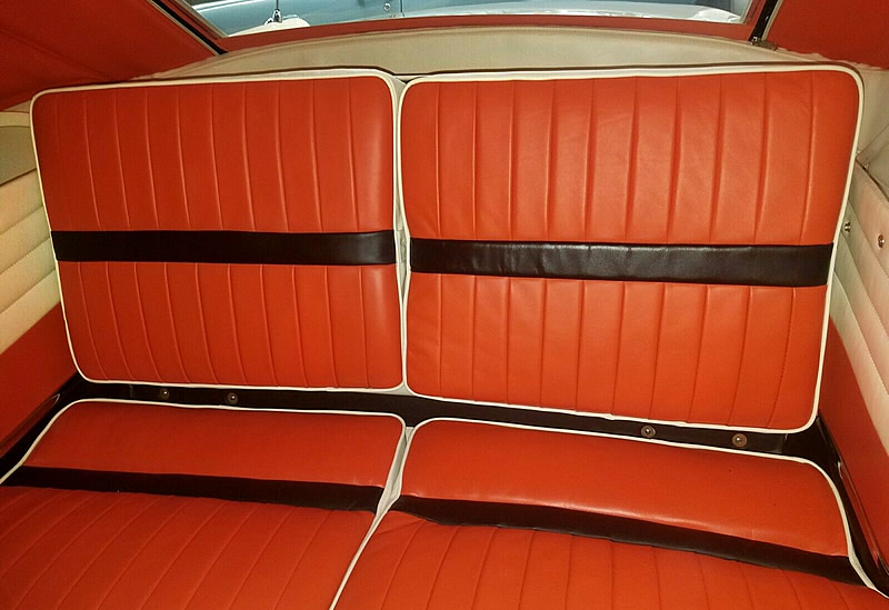 Rear seats of a 56 Packard Caribbean