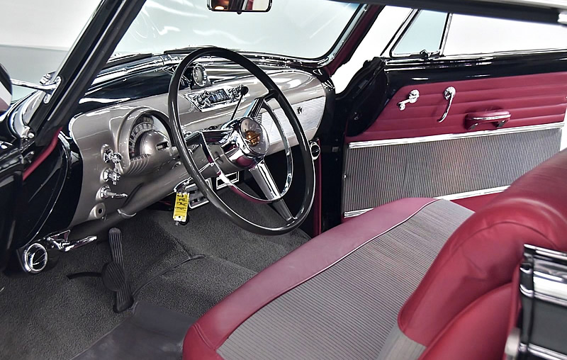 Beautiful interior of a 1950 Oldsmobile Eighty-Eight