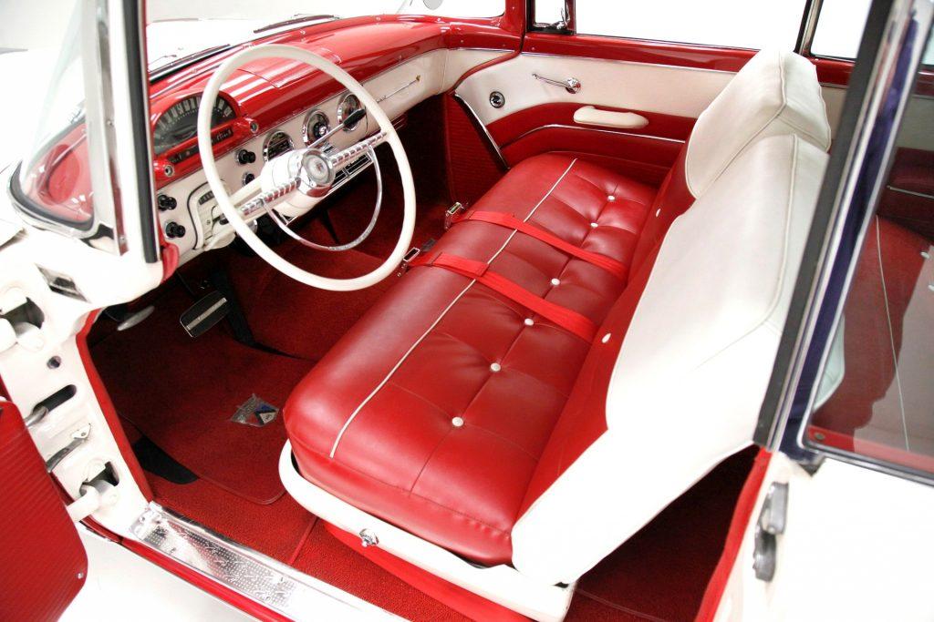 beautiful interior of a 1955 Fairlane Victoria