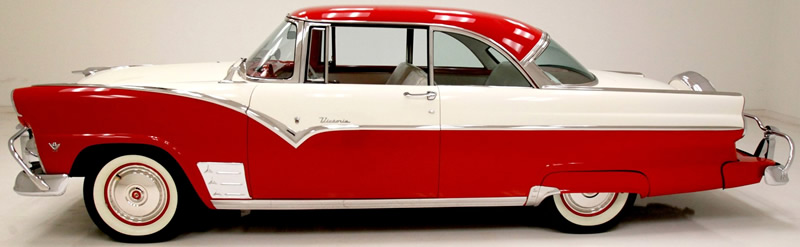 side view of a 1955 Ford Fairlane Victoria