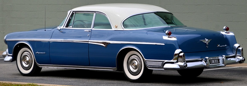 """Unique """"gunsight"""" taillights of the 1955 Imperial"""