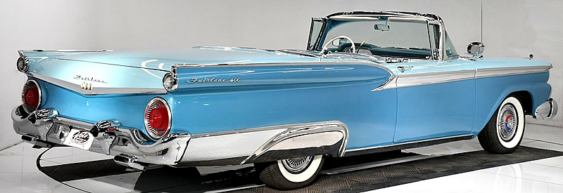 rear view of a 1959 Ford Skyliner Retractable