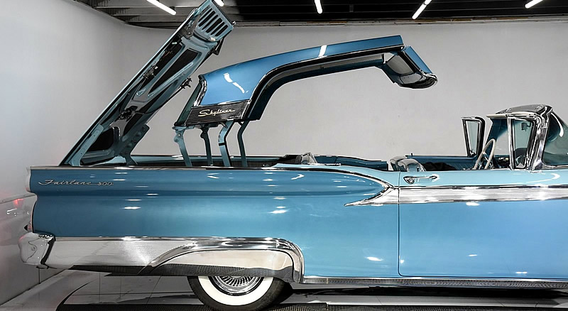 1959 Skyliner top in operation