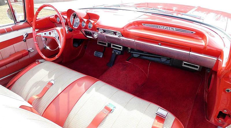 Interior photo of the 1960 Chevy Impala convertible