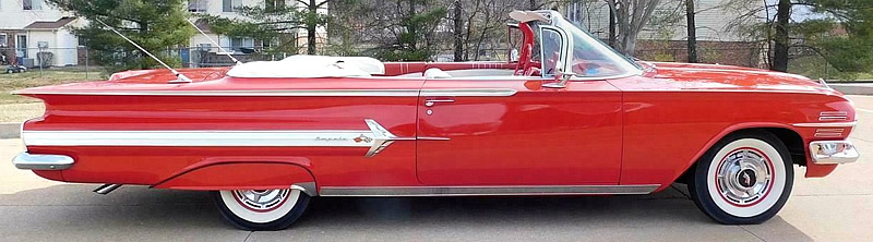 Side view of a 1960 Chevy Impala Convertible