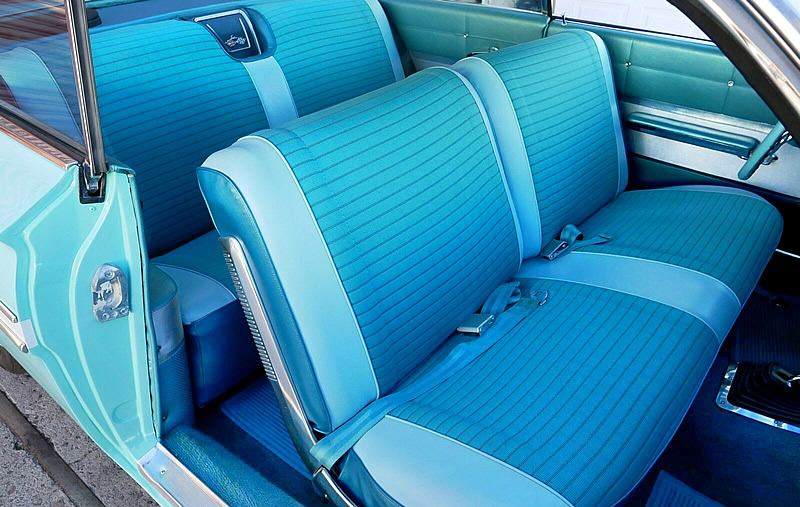 turquoise interior or a 1961 Chevy Impala