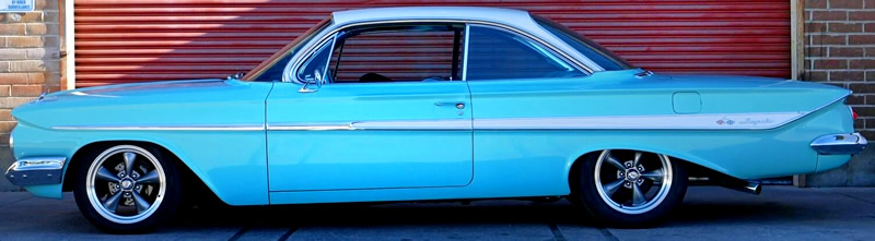 side view of a 1961 Impala