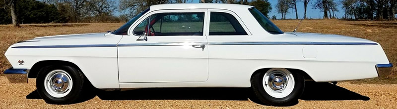 side view of a 1962 Bel Air by Chevrolet