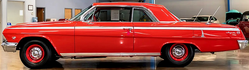 Side view of a 62 Chevy Impala Sport Coupe