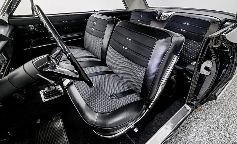 Interior shot of a 1963 Chevrolet Impala Sport Coupe