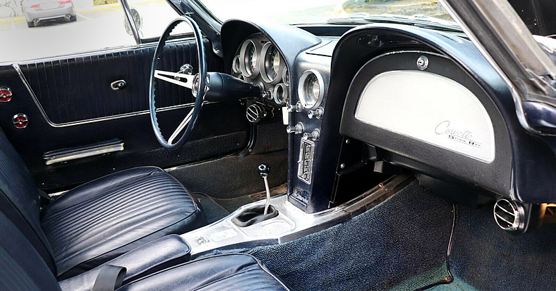 nice interior of a 63 Corvette