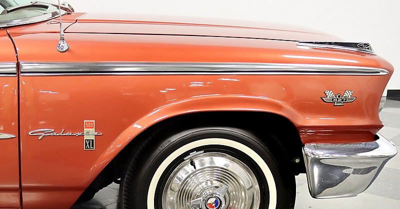 1963 Ford Galaxie 427 and 500 XL fender emblems