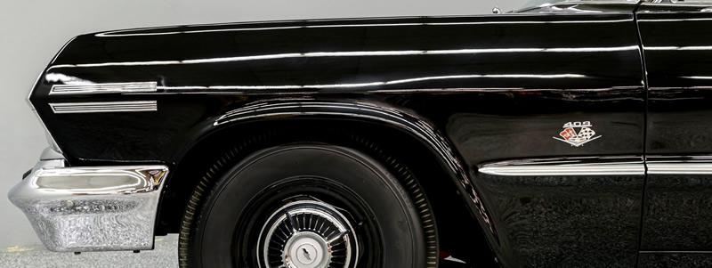 409 fender badges on a 1963 Chevy Impala