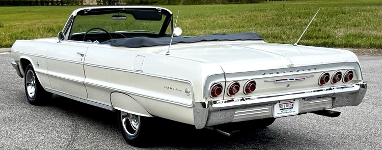 the distinctive rear of a 64 Chevy Impala