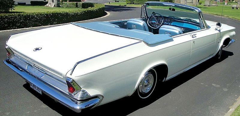 Rear view of the 64 300-K convertible by Chrysler - top down fun