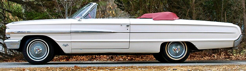 side view with the top down - 64 Ford Galaxie 500 Convertible