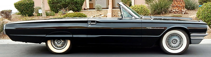 top down side view of a 64 Thunderbird