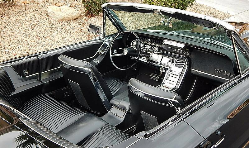 Gorgeous interior of a 64 Ford Thunderbird convertible