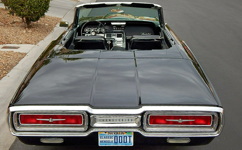 Rear view of a 64 Thunderbird - showing taillights