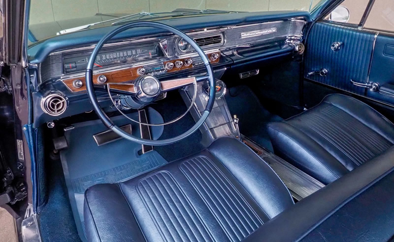 Interior shot of a very nice 1964 Pontiac Grand Prix