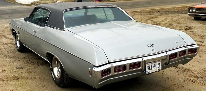 Rear view of a 69 Chevy Impala SS 427