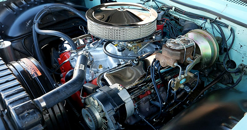 Chevrolet 454 cubic inch V8 fitted to a 1961 Impala