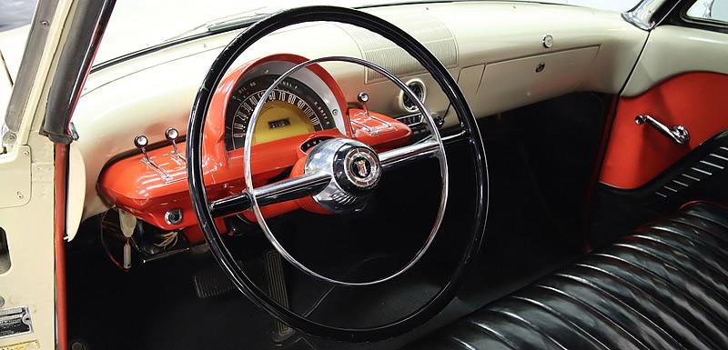 the unique instrument panel of a 1953 Mercury