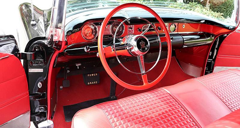 interior of the 54 Buick Skylark convertible