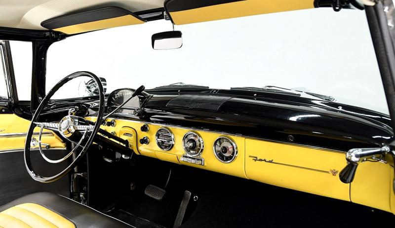 two tone interior of a 55 Crown Victoria