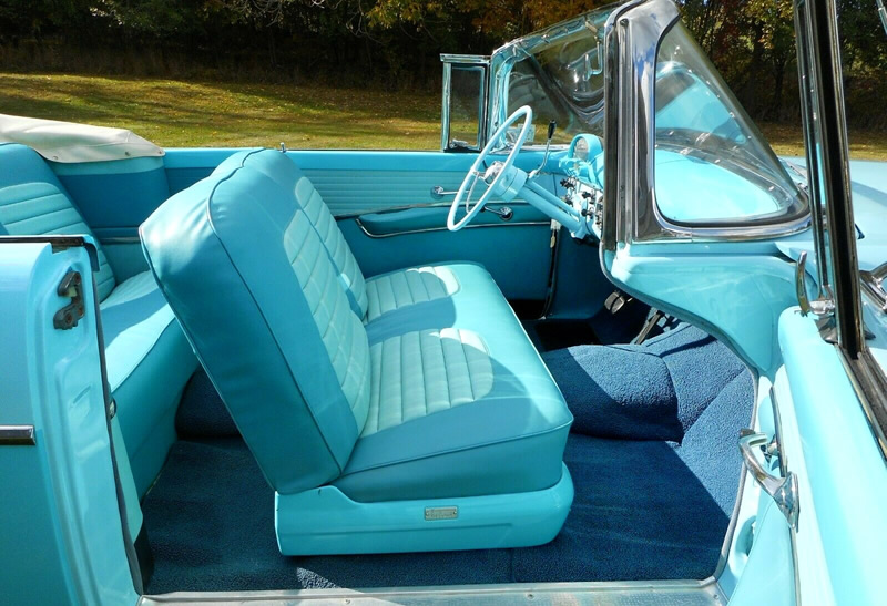 interior of a 1955 Sunliner Convertible