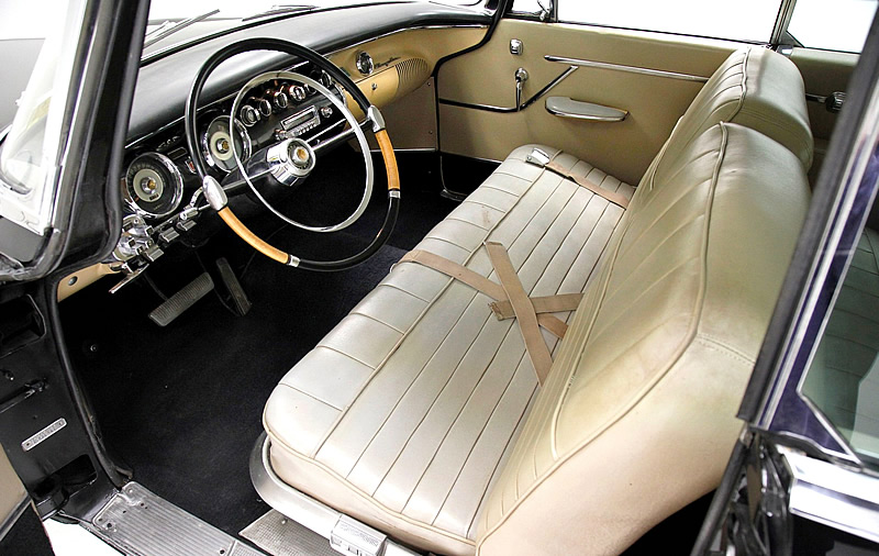 leather interior of a 1956 Chrysler 300B