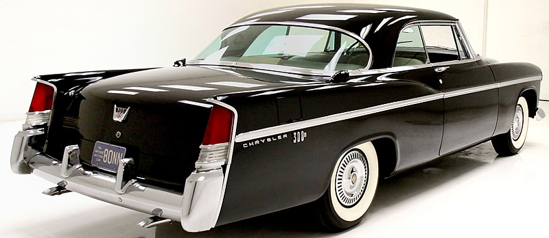 1956 saw the introduction of tailfins on the 56 Chrysler 300 B