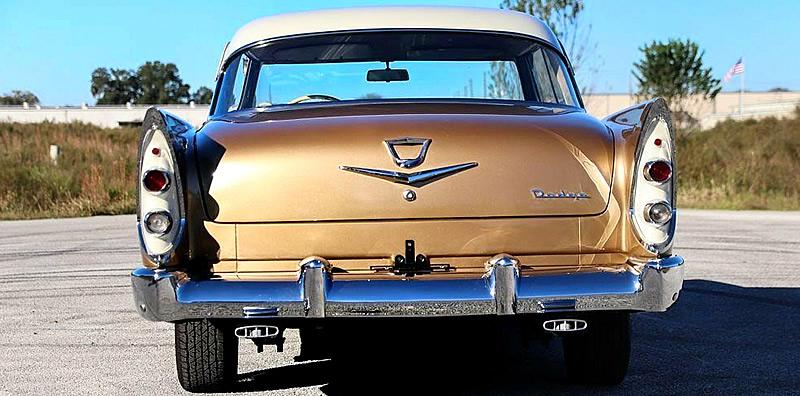Rear view of a 56 Dodge Coronet Lancer 2-door hardtop